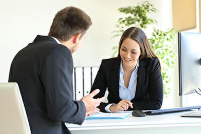 échange avec le client